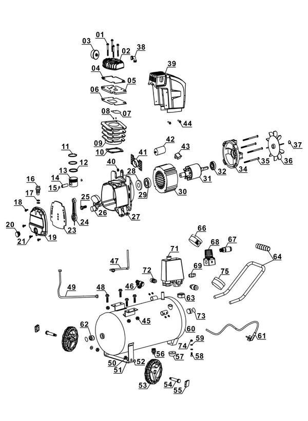 Ersatzteile Kompressor TE-AC 270/24/10