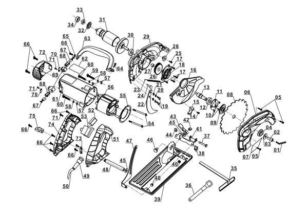 Ersatzteile Handkreissäge TC-CS 1200