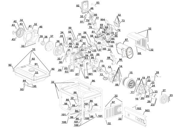 Ersatzteile Stromerzeuger (Benzin) BT-PG 2000/2