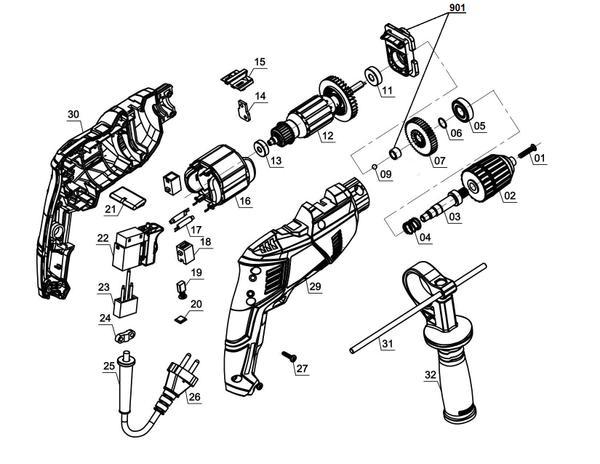 Ersatzteile Schlagbohrmaschine TE-ID 500 E