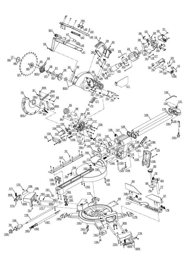 Tartalék alkatrészek Vonó-fejező-gérvágó fűrész TE-SM 2534 Dual