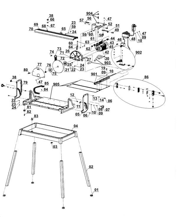 Ersatzteile Steintrennmaschine TE-SC 570 L