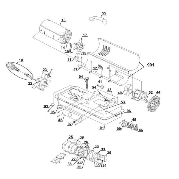 Ersatzteile Heißluftgenerator (Diesel) DHG 200