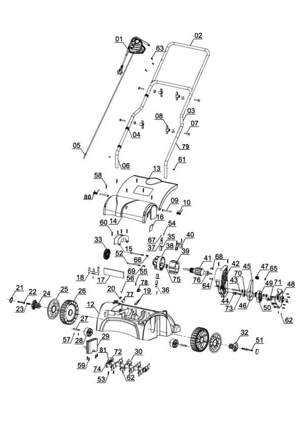 Ersatzteile Elektro-Vertikutierer GC-ES 1231
