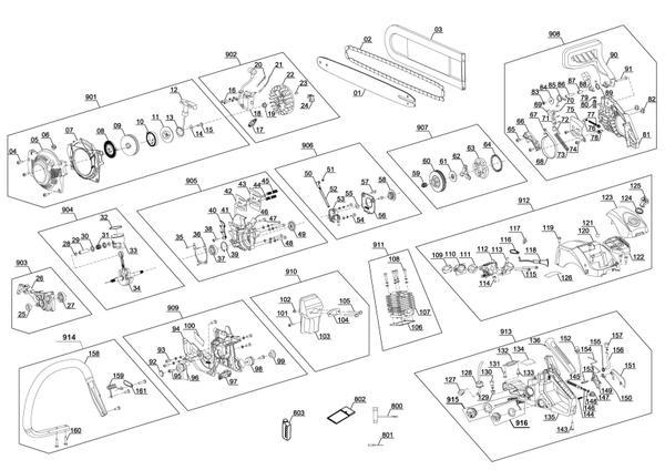 Tartalék alkatrészek Benzines láncfűrész GC-PC 1235 I