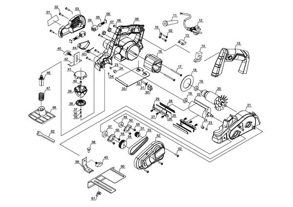 Ersatzteile Elektrohobel TC-PL 750