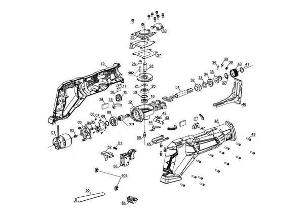 Ersatzteile Akku-Universalsäge TE-AP 18 Li - Solo