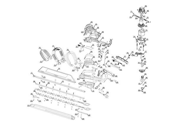 Ersatzteile Elektro-Heckenschere GE-EH 6560