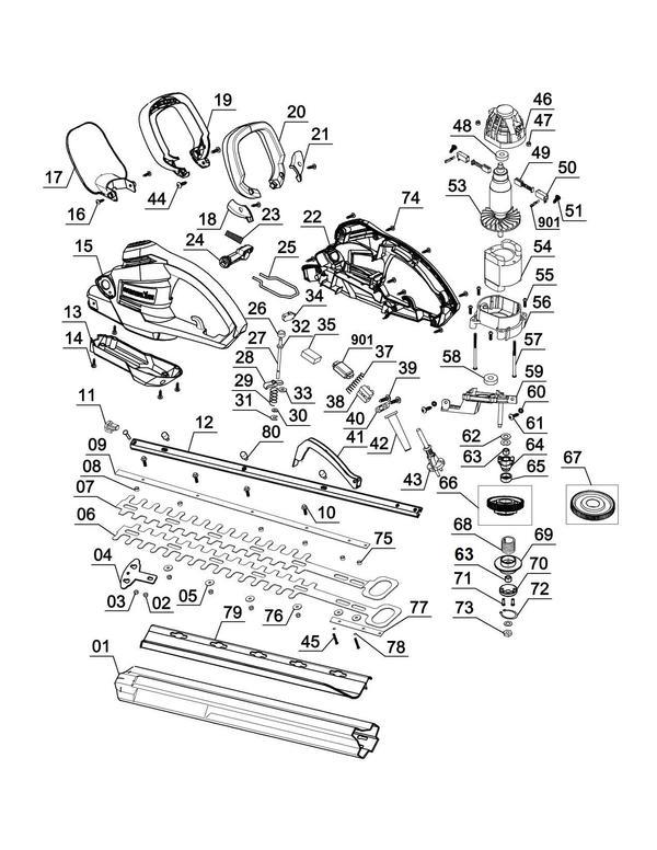 Ersatzteile Elektro-Heckenschere GC-EH 5550