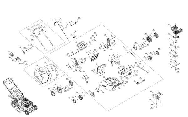 Ersatzteile Benzin-Rasenmäher GE-PM 48 S HW B&S