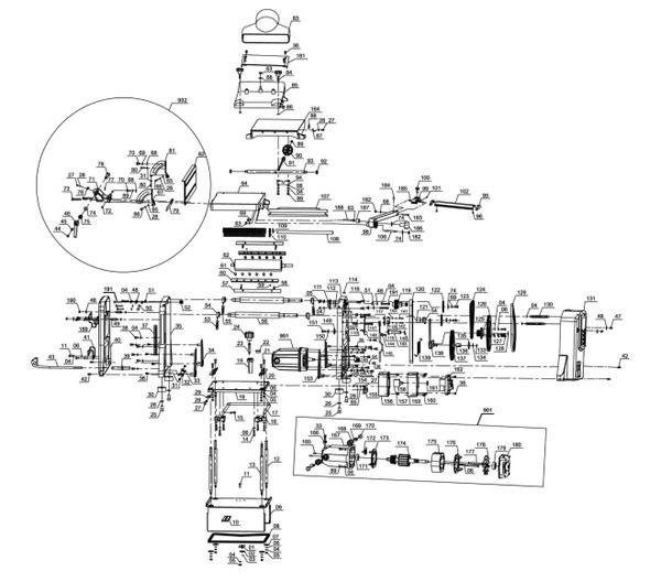 Tartalék alkatrészek Telepített gyalugép TC-SP 204