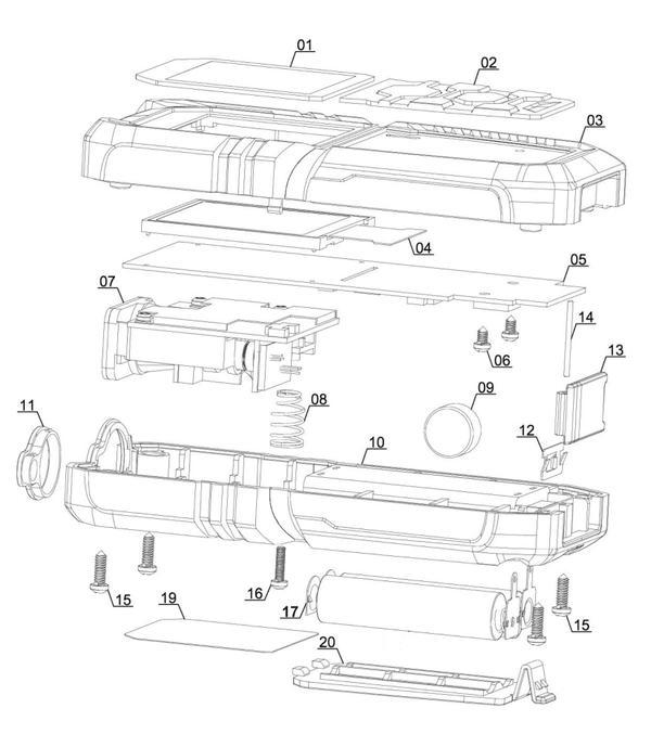 Ersatzteile Laser-Distanzmesser TC-LD 50