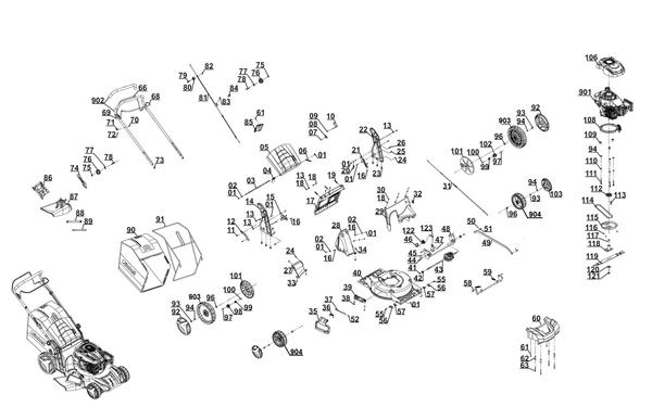 Ersatzteile Benzin-Rasenmäher GC-PM 47 S HW