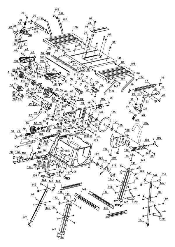 Ersatzteile Tischkreissäge TC-TS 2025/1 U