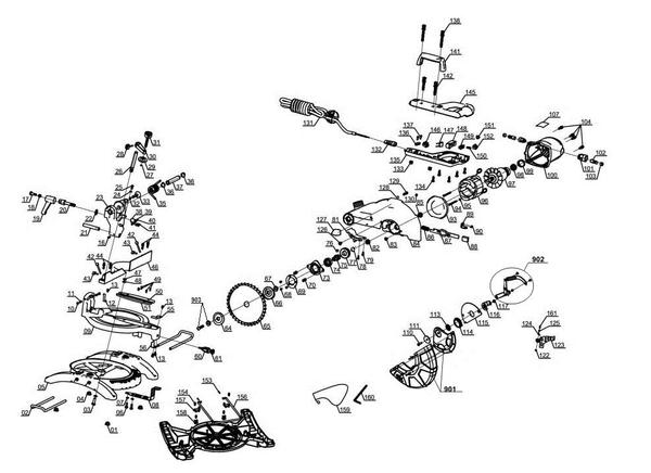 Ersatzteile Kapp-Gehrungssäge TC-MS 2513 L