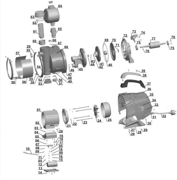 Refacciones Hidrofor automat GE-AW 9041 E