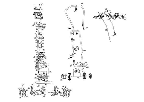 Refacciones Aradora eléctrica GC-RT 1440 M