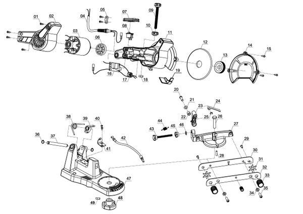 Ersatzteile Sägekettenschärfgerät GC-CS 85 F