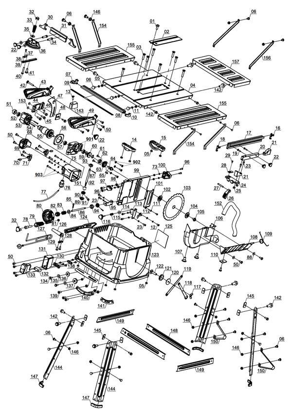 Tartalék alkatrészek Asztali körfűrész TC-TS 2025/1 UA