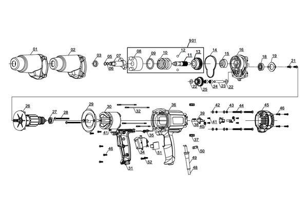 Ersatzteile Schlagschrauber CC-IW 950