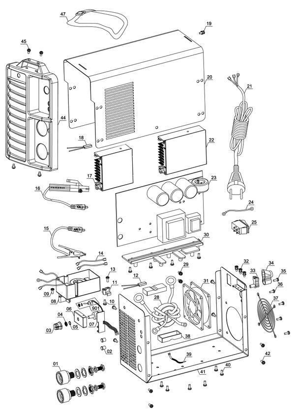 Tartalék alkatrészek Inverteres hegesztőgép TC-IW 170