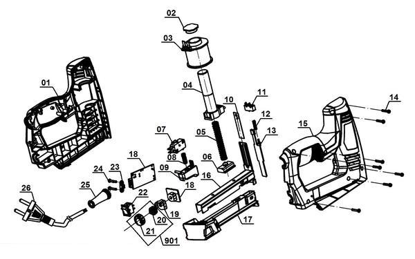 Ersatzteile Elektrotacker TC-EN 20 E