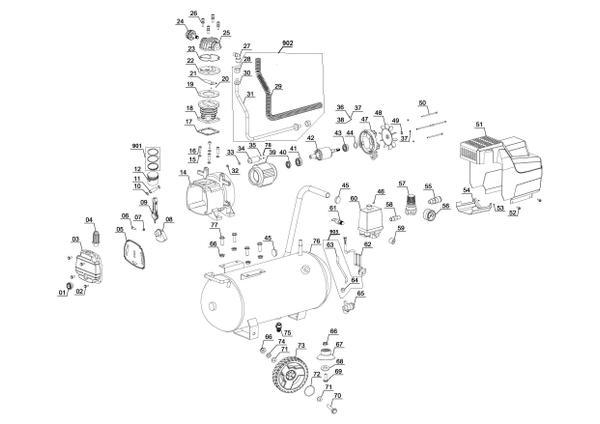 Ersatzteile Kompressor TC-AC 190/24/8