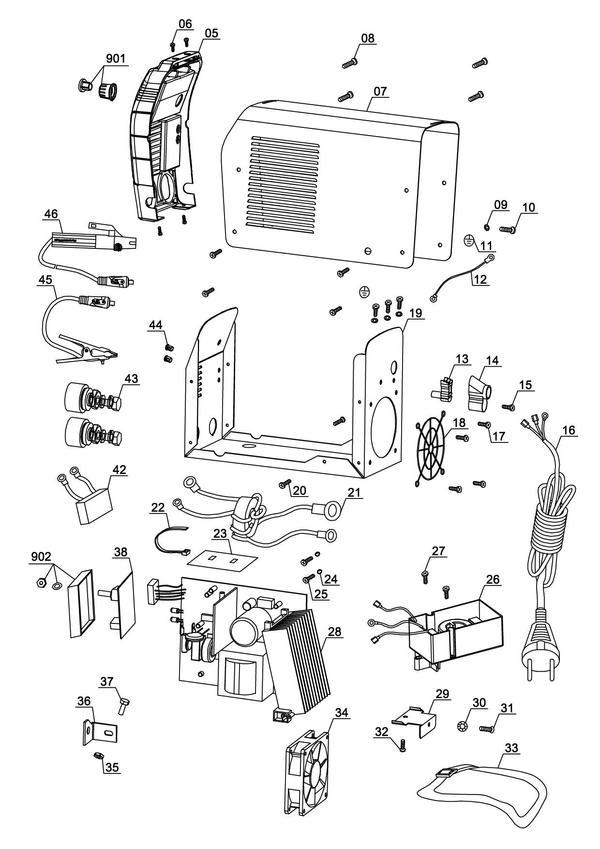 Tartalék alkatrészek Inverteres hegesztőgép TC-IW 110