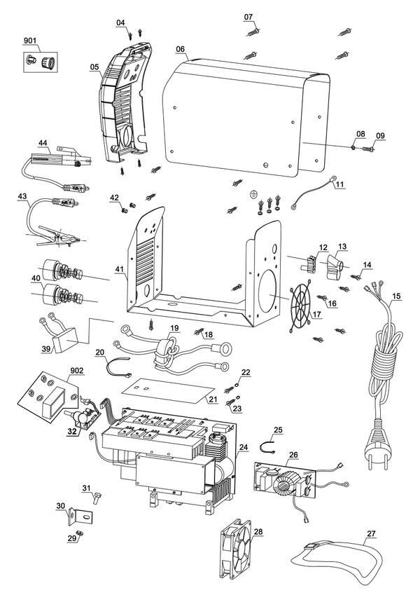 Tartalék alkatrészek Inverteres hegesztőgép TC-IW 150