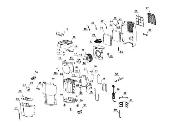 Ersatzteile Luftentfeuchter LE 30