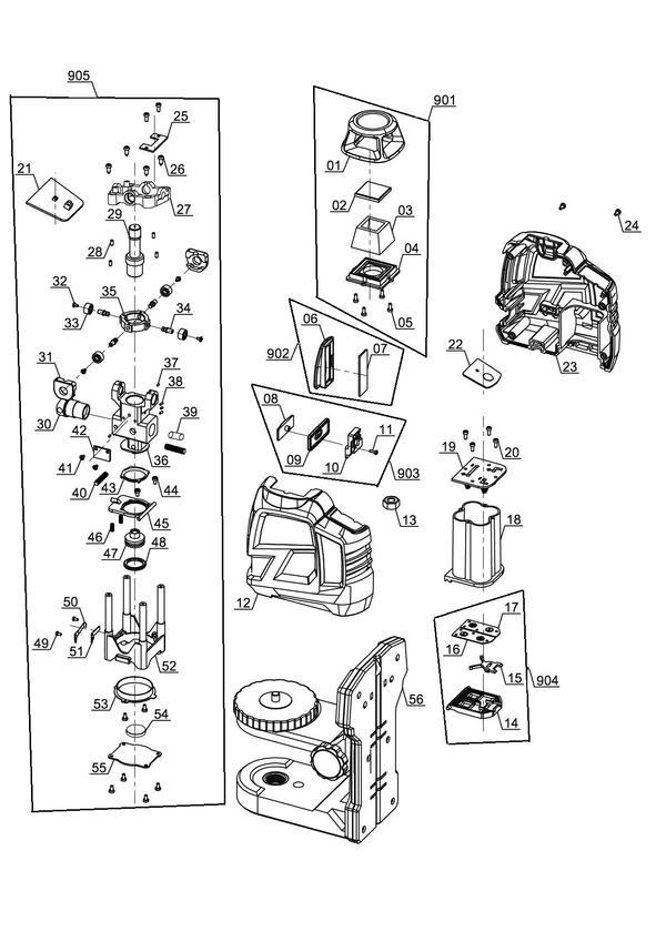 Ersatzteile Kreuzlinienlaser TE-LL 360