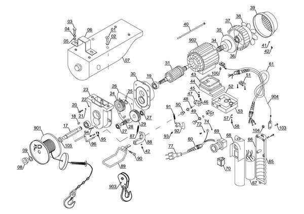 Ersatzteile Seilhebezug TC-EH 250