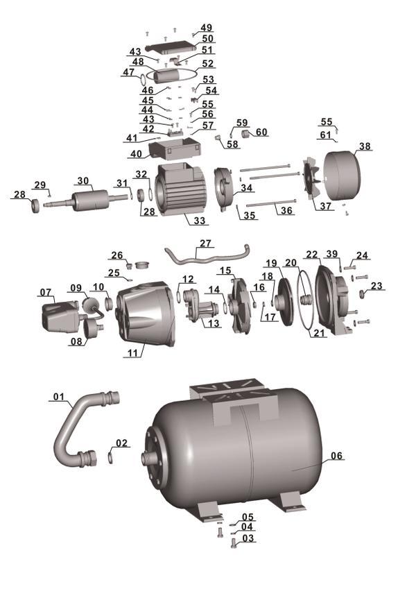 Refacciones Hidrofor GC-WW 6036