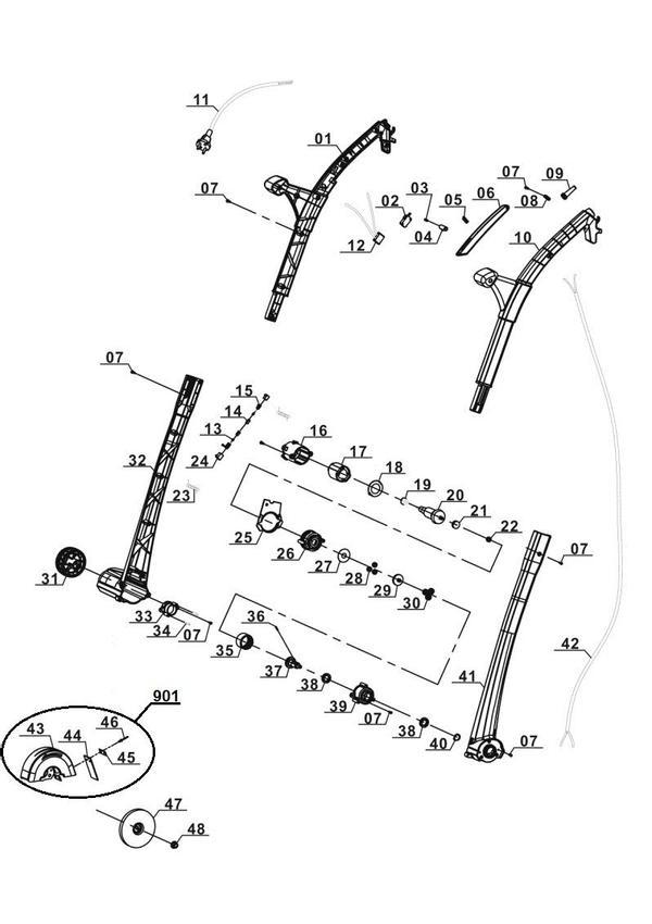 Ersatzteile Elektrischer Fugenreiniger GC-EG 1410