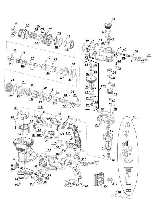 Ersatzteile Bohrhammer TE-RH 38 E