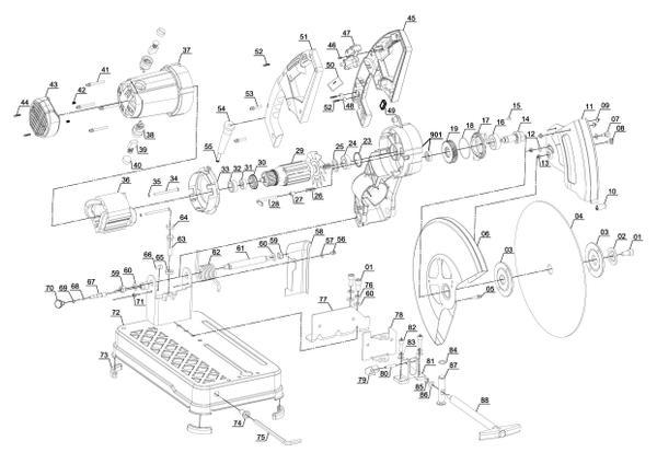 Tartalék alkatrészek Fém vágógép TC-MC 355
