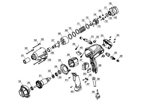 Ersatzteile Schlagschrauber CC-IW 450