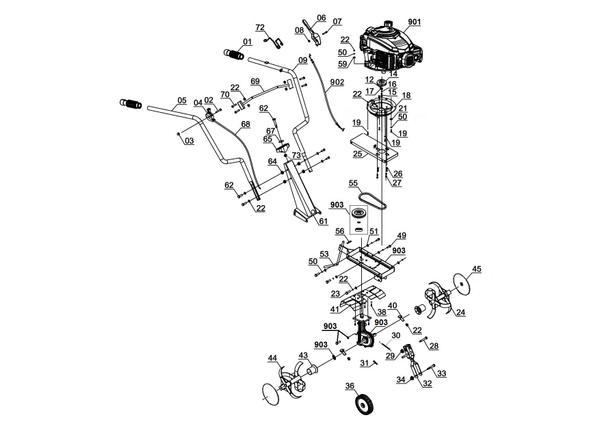 Refacciones Aradora gasolina GC-MT 3060 LD