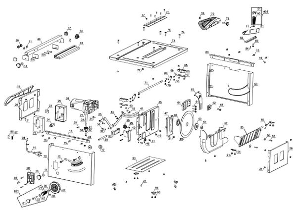 Tartalék alkatrészek Asztali körfűrész TC-TS 1200