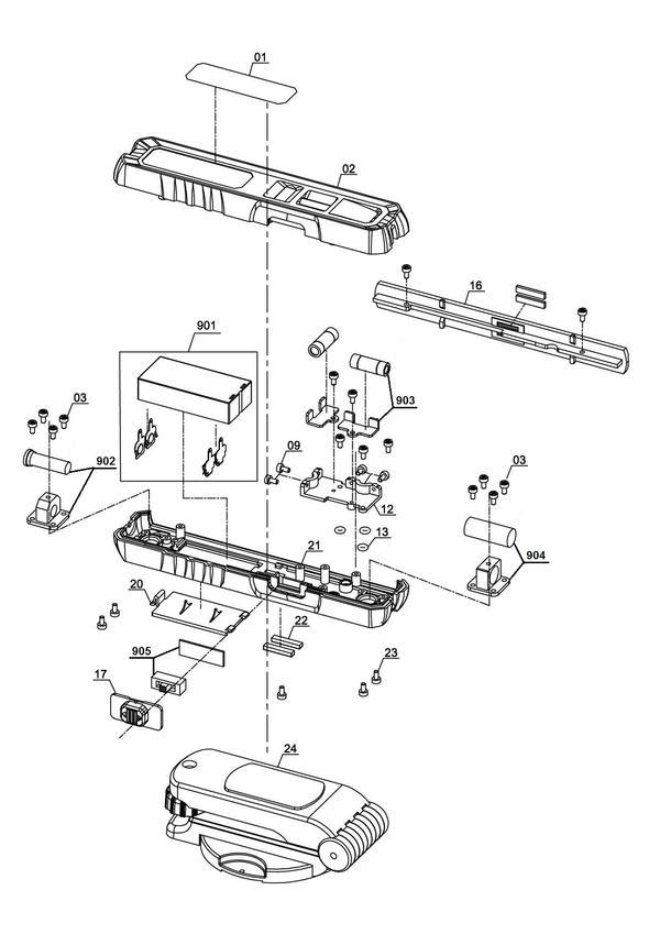 Tartalék alkatrészek Lézeres szintező készülék TC-LL 1