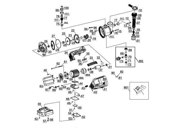 Refacciones Hidrofor automat GC-AW 6333