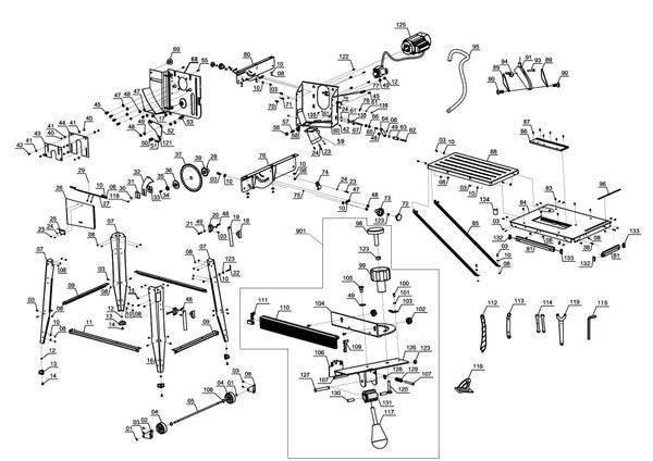 Tartalék alkatrészek Asztali körfűrész TC-TS 2031 U