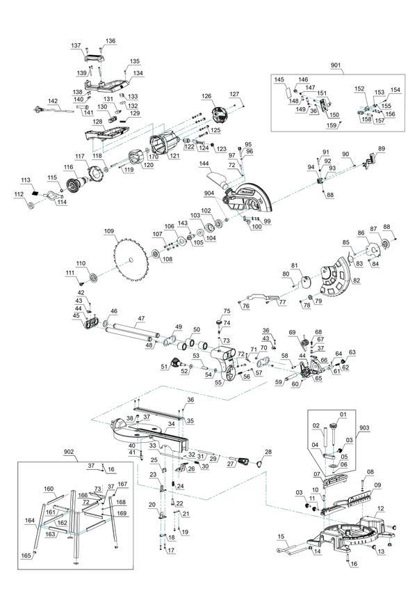 Tartalék alkatrészek Vonó-fejező-gérvágó fűrész TC-SM 2531/1 U