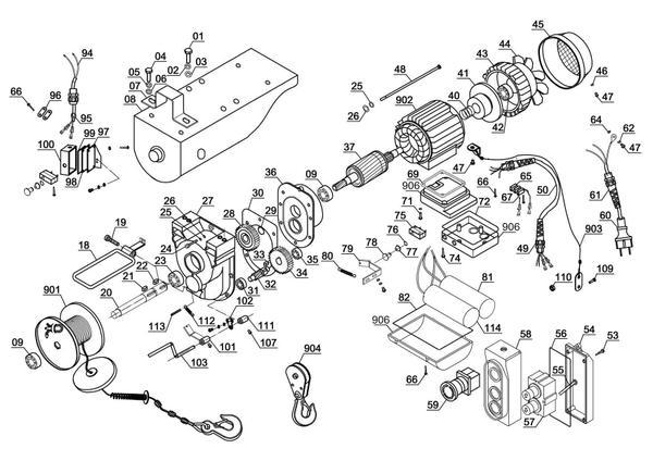 Tartalék alkatrészek Drótköteles emelő BT-EH 1000