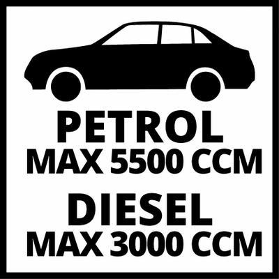 Einhell C/âbles de d/émarrage BT-BO 25//1 A Moteur essence jusqu/à 5 500 ccm,Puissance : 350 A, 4 pinces /à batterie isol/ées selon norme DIN, Livr/é avec pochette de transport