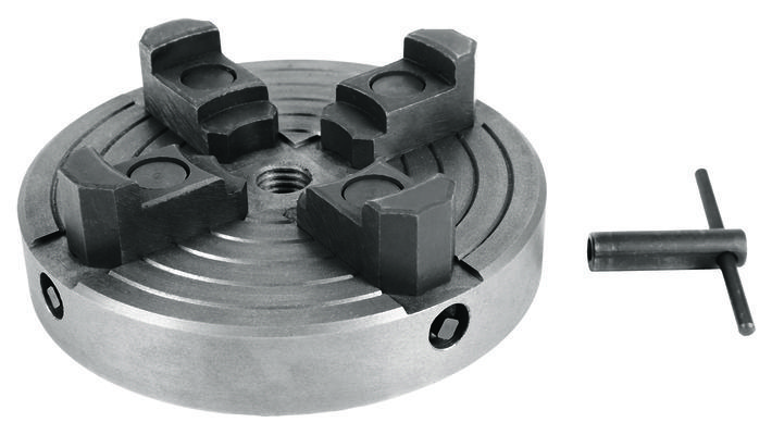 Four-jaw chuck for wood lathe