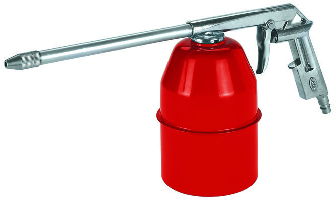 Spray gun with suction can